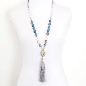 LOFT Jewelry - LOFT Necklace Long Tassel Natural Stone